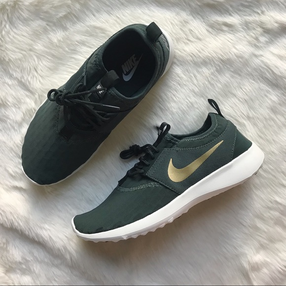 the best attitude fa183 7a073 Nike Green + Gold Juvenate Sneakers